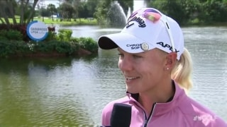 36-hole leader Sagstrom (62) proved to herself she can go low