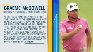 Did McDowell deserve bad time after on-course interview?