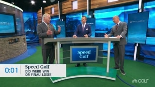Speed Golf: Did Simpson win or did Finau lose the WMPO?
