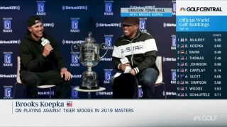 Koepka: After winning Masters, Tiger said to me, '1-1 now'