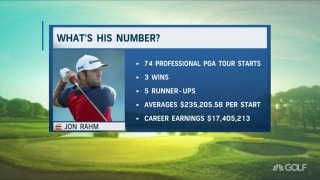 What's his number: How much has Rahm made on Tour?