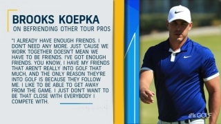 Koepka weighs in on befriending other Tour pros