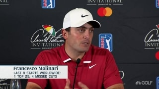 Where is Molinari's game at? 'I'm a little bit behind'