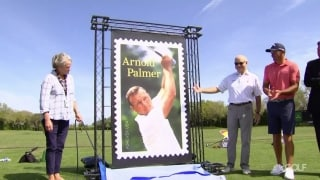 Arnold Palmer 'forever' stamp dedicated at Bay Hill