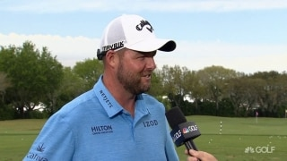 Leishman (69) 'hung on' after good start at breezy Bay Hill