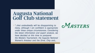 Augusta statement: Masters postponed, possibly played in October?