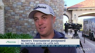 Thomas: Anytime, any conditions, I'll play the Masters