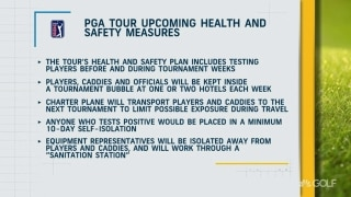 PGA Tour announces upcoming healthy and safety measures