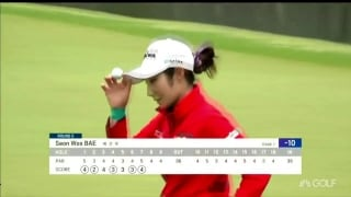 Highlights: Bae (65) takes four-shot, 36-hole KLPGA lead