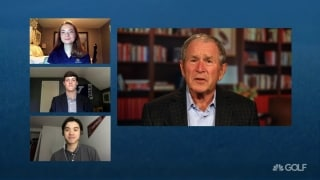 George W. Bush awards First Tee Scholarships to graduates