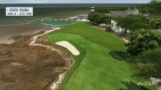 Key holes at quaint and cozy Harbour Town Golf Links