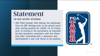 PGA Tour issues statement on Watney testing positive for COVID-19