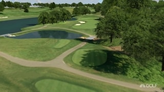 Playing the key holes at the Travelers Championship