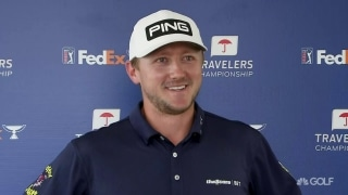 Low scores, big names atop early Travelers leaderboard