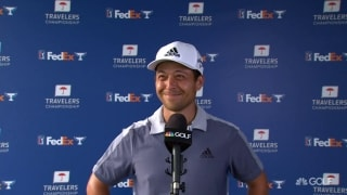 Schauffele battles 'boring' day to fire 63 at Travelers