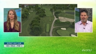 Breaking down the 18th hole at Detroit Golf Club