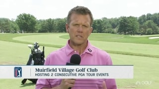 Lewis: Muirfield watering greens heavily to host back to back