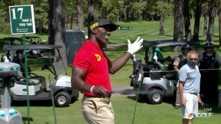 Hall of Famer Terrell Davis gets lucky bounce off tree