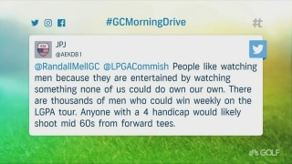 Twitter user sparks controversy over men winning on LPGA