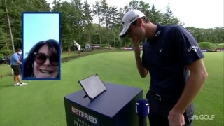 Paratore celebrates British Masters win with mom via iPad