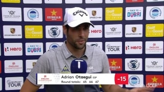 Otaegui (67) recaps third round at English Championship