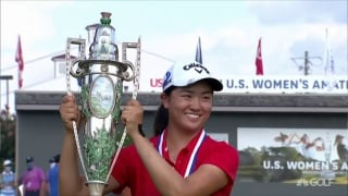 Zhang, 17, presented with U.S. Women's Am trophy