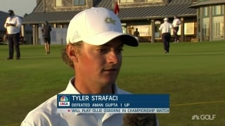 Strafaci emotional after advancing to U.S. Amateur final
