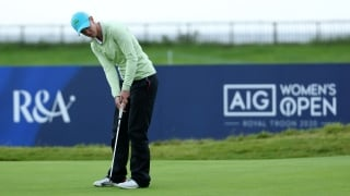 Highlights: Olson (67) leads windy AIG Women's Open by three