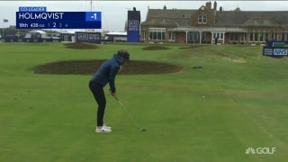 Highlights: Holmqvist leads through 36 at Royal Troon