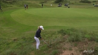 Weaver holes out from trouble to save par on No. 12