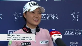 M. Lee (69) excited to be in contention in a major