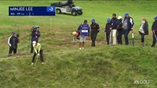 From the rough: Impressive par save from M. Lee