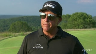 Phil after 61 in Champions Tour debut: 'I was a little nervous'