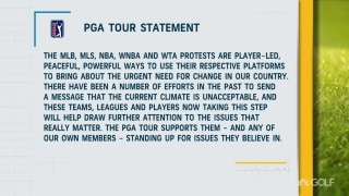 PGA Tour makes statement on social injustice, player-led protests
