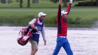 Slam dunk! Hebert holes out for eagle at No. 6
