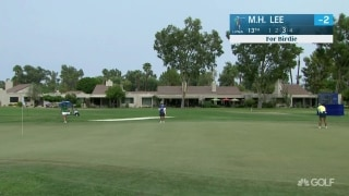 M.H. Lee sinks monster, downhill birdie putt on No. 13