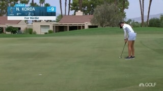 Spot on: N. Korda birdies No. 8 with ease