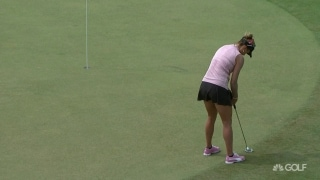 Oh... yes! Lexi sinks it to save par on No. 13