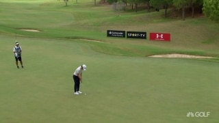 Kawamura drains third birdie of the day on No. 5