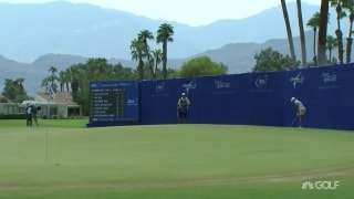 Unbelievable: M. Lee holes out on No. 18 to grab share of lead