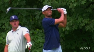 Tiger, Bryson play nine-hole practice round at Winged Foot