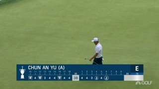 U.S. Open Day 1: Chun An Yu (a) chips it in for an eagle at No. 6