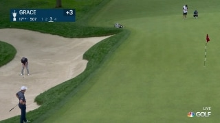 U.S. Open Day 1: Branden Grace bunker hole out at No. 17