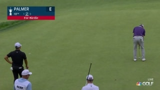 U.S. Open Day 1: Ryan Palmer drains a birdie putt on No. 10