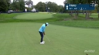 U.S. Open Day 2: Finau fires approach into gimme range on 15