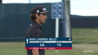 U.S. Open Day 2: Cabrera Bello finishes with birdie, round of 70