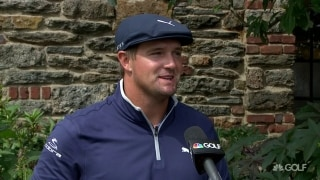Bryson (68): Practiced 'almost in dark' to simulate today's conditions