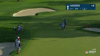 U.S. Open Day 2: Hadwin chips in for birdie on No. 11