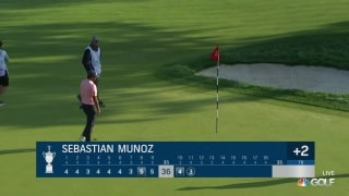 U.S. Open Day 2: Munoz with terrific birdie putt on No. 11