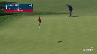 U.S. Open Day 3: From Norway! Hovland sinks long birdie putt on No. 5